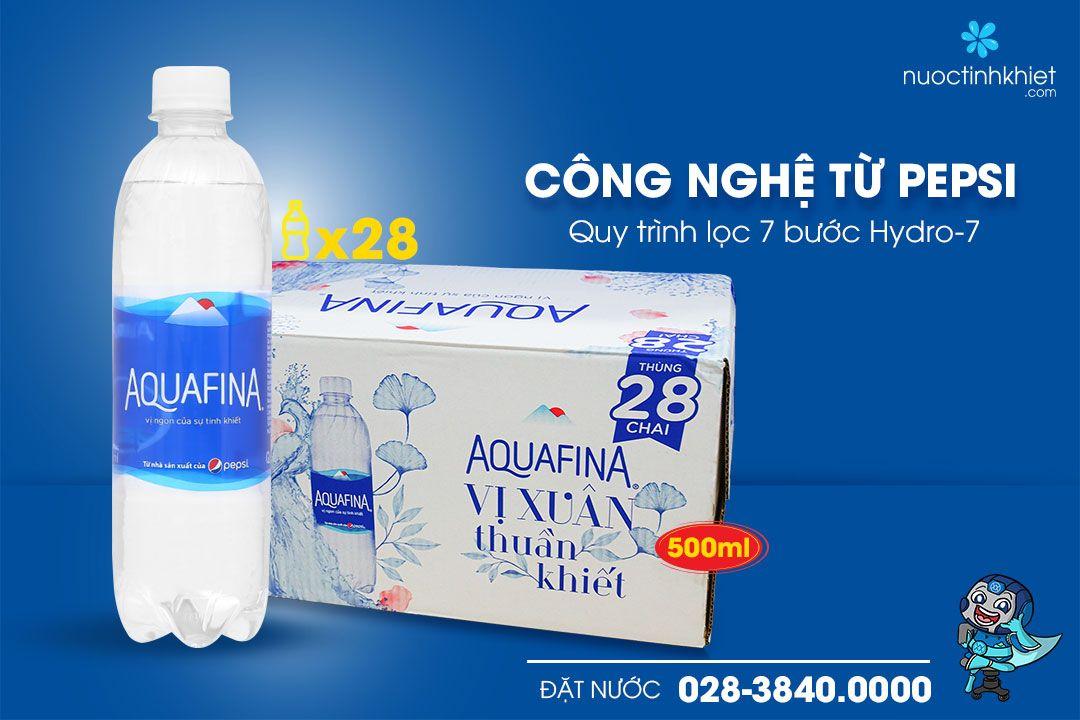 Nước tinh khiết Aquafina được sản xuất theo công nghệ của pepsi