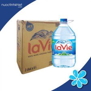 Thùng nước Lavie 6L