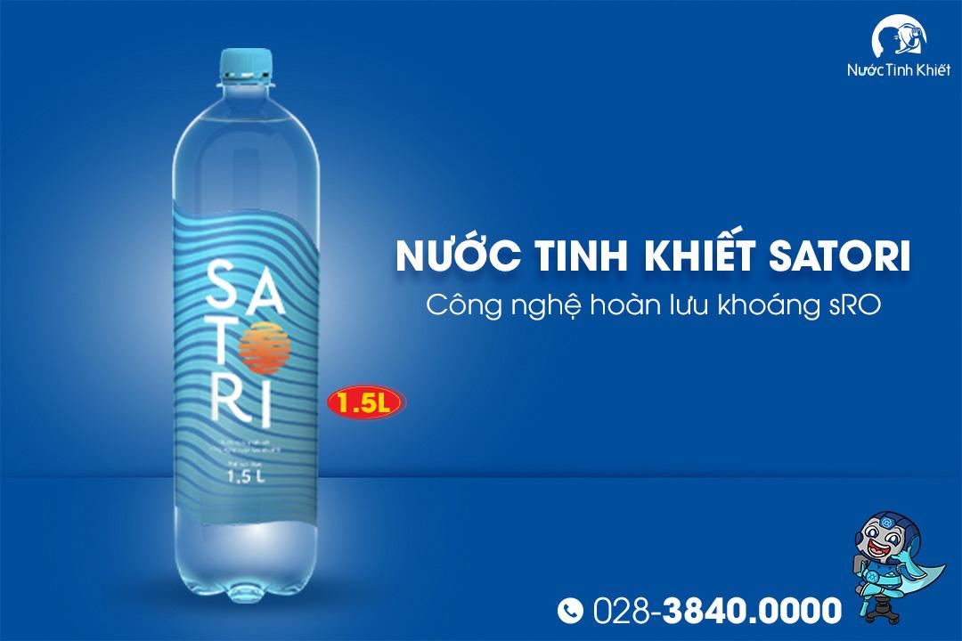 Thùng nước Satori 1.5L đóng chai