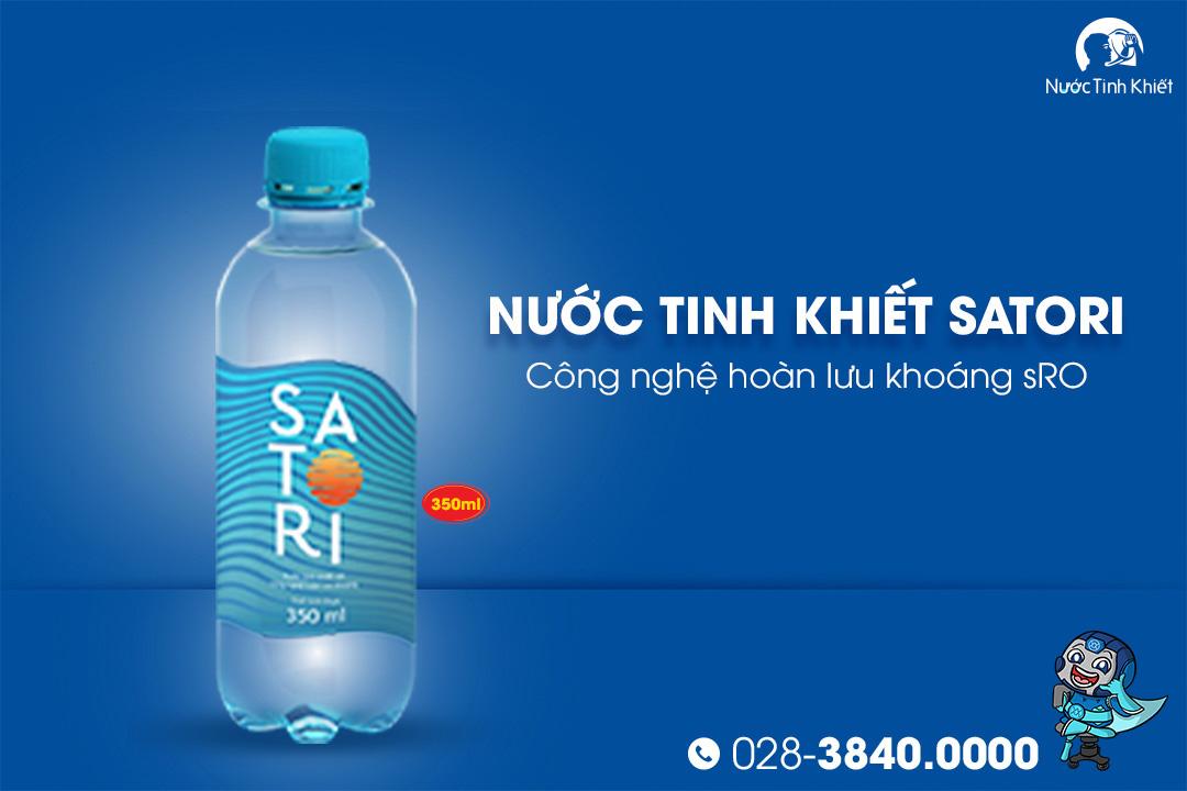 Thùng nước Satori 350ml đóng chai