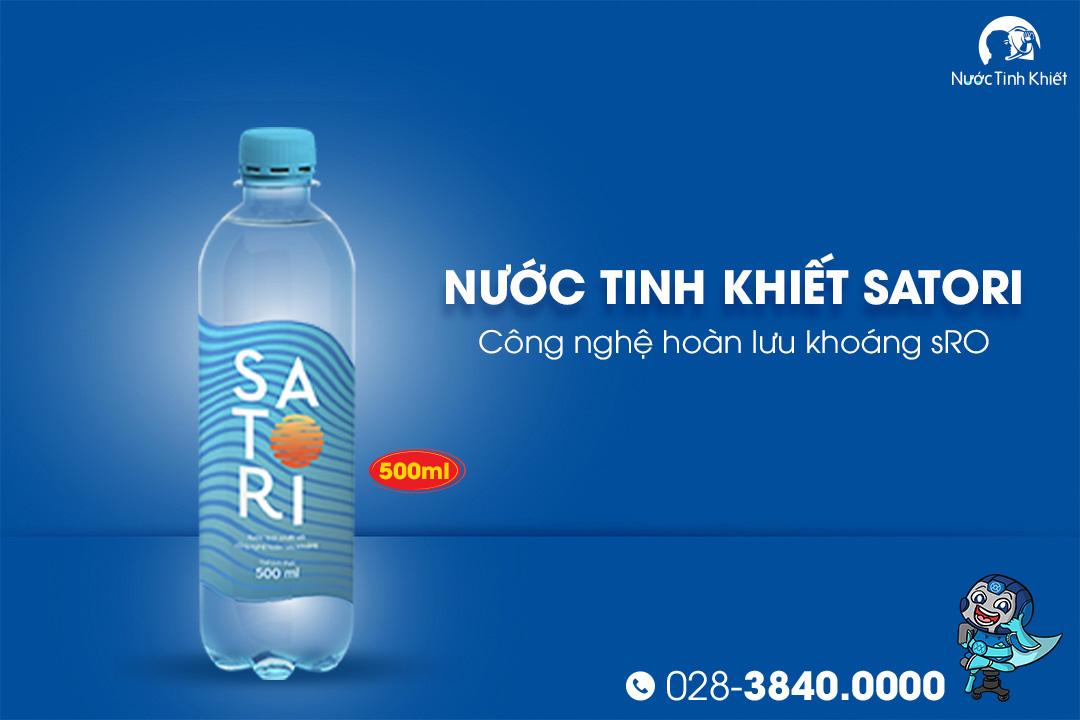 Thùng nước Satori 500ml đóng chai