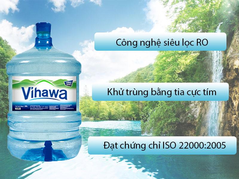 Đặc điểm nước tinh khiết Vihawa bình vòi 20L
