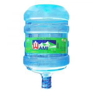 Nước tinh khiết Wami đóng bình úp 19L